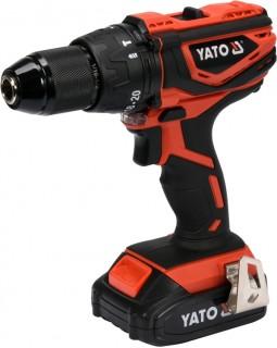 Шуруповерт-дрель ударный аккумуляторный YATO YT-82786 (в кейсе с аккумулятором 2 Ач)