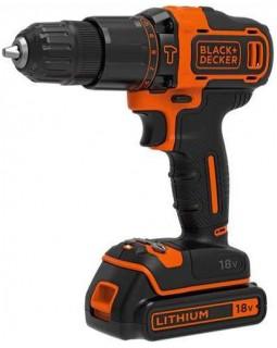 Шуруповерт-дрель аккумуляторный BLACK+DECKER BDCHD18KB-QW (в кейсе + 2 аккумулятора)