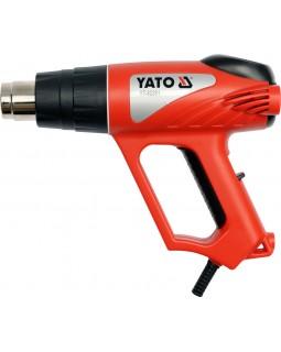 Фен строительный YATO 2000 Вт, YT-82291 (в кейсе с аксессуарами)