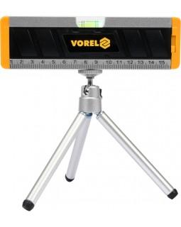 Уровень строительный с лазерным лучом, на штативе VOREL 17560, 17 см