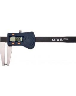 Штангенциркуль для тормозных дисков, электронный YATO 180 (с нержавеющей стали, в кейсе)