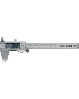Штангенциркуль электронный, YATO 150 мм, (из нержавеющей стали.