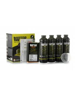 Краска повышенной прочности U-POL RAPTOR™ Черная 4 литра комплект (RLB/S4)
