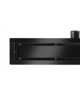 Трап для душа под плитку, Epelli Neo Pro 2 in 1 из нержавеющей стали, черный, с комбинированным затвором