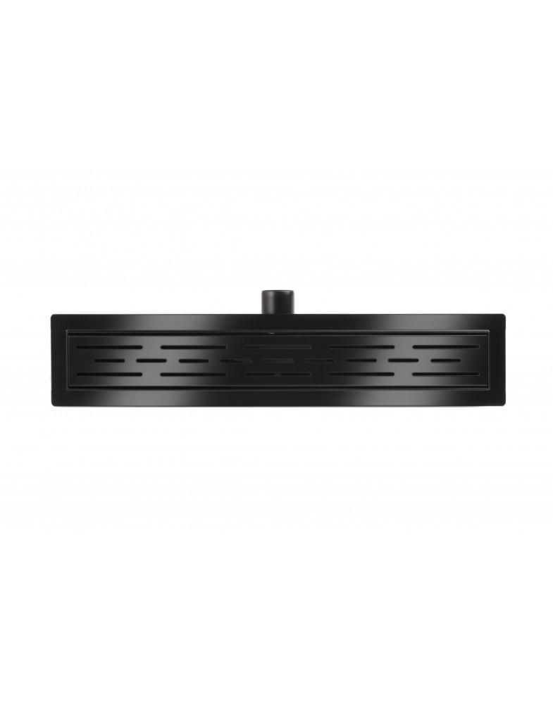 Трап для душа Epelli Neo Classic из нержавеющей стали, черный, с комбинированным затвором
