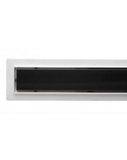 Трап для душа с чёрным стеклом Epelli Giorno Verto Nero 90 см (60090)
