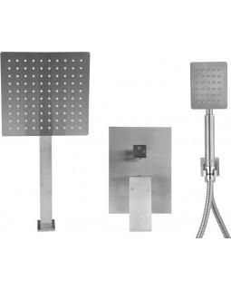 Душевой комплект скрытого монтажа STEELY S FALA : 2 функции, шланг- 1.5 м (75871)