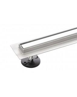 Трап для душа щелевой BW Tech Slim 360, с поворотным сифоном, из нержавеющей стали (50-120 см)