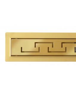 Трап для душа Epelli Grande D`oro из нержавеющей стали, золотой, с комбинированным затвором