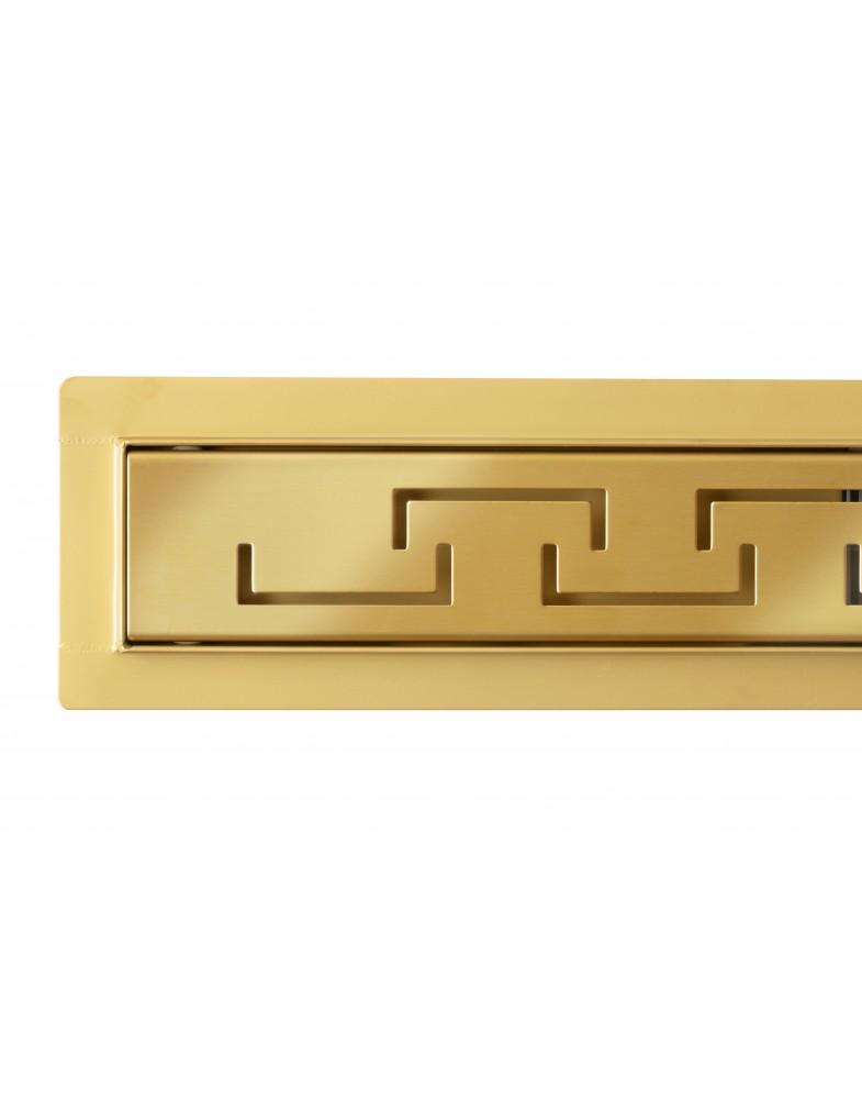 Трап для душа Epelli Grande D`oro 70 см, из нержавеющей стали, золотой, с комбинированным затвором (D1070)